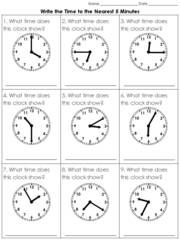 Time tell time to the nearest 5 minutes 2 practice sheets king time tell time to the nearest 5 minutes 2 practice sheets king ibookread ePUb