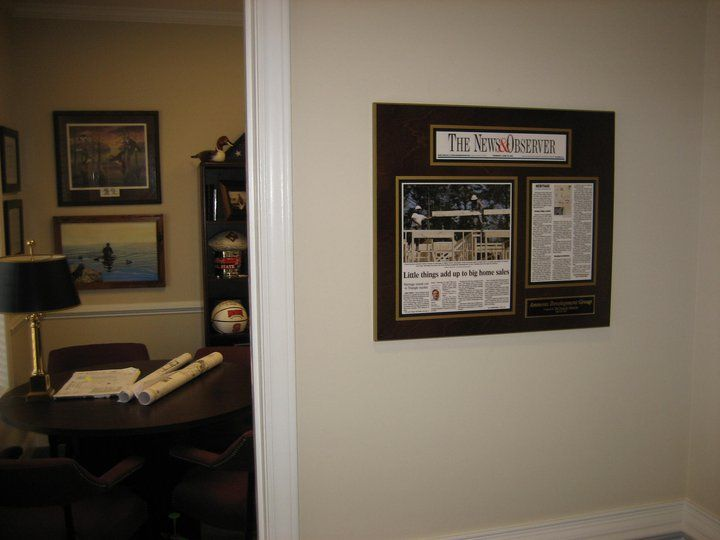 framing newspaper articles to recognize excellence