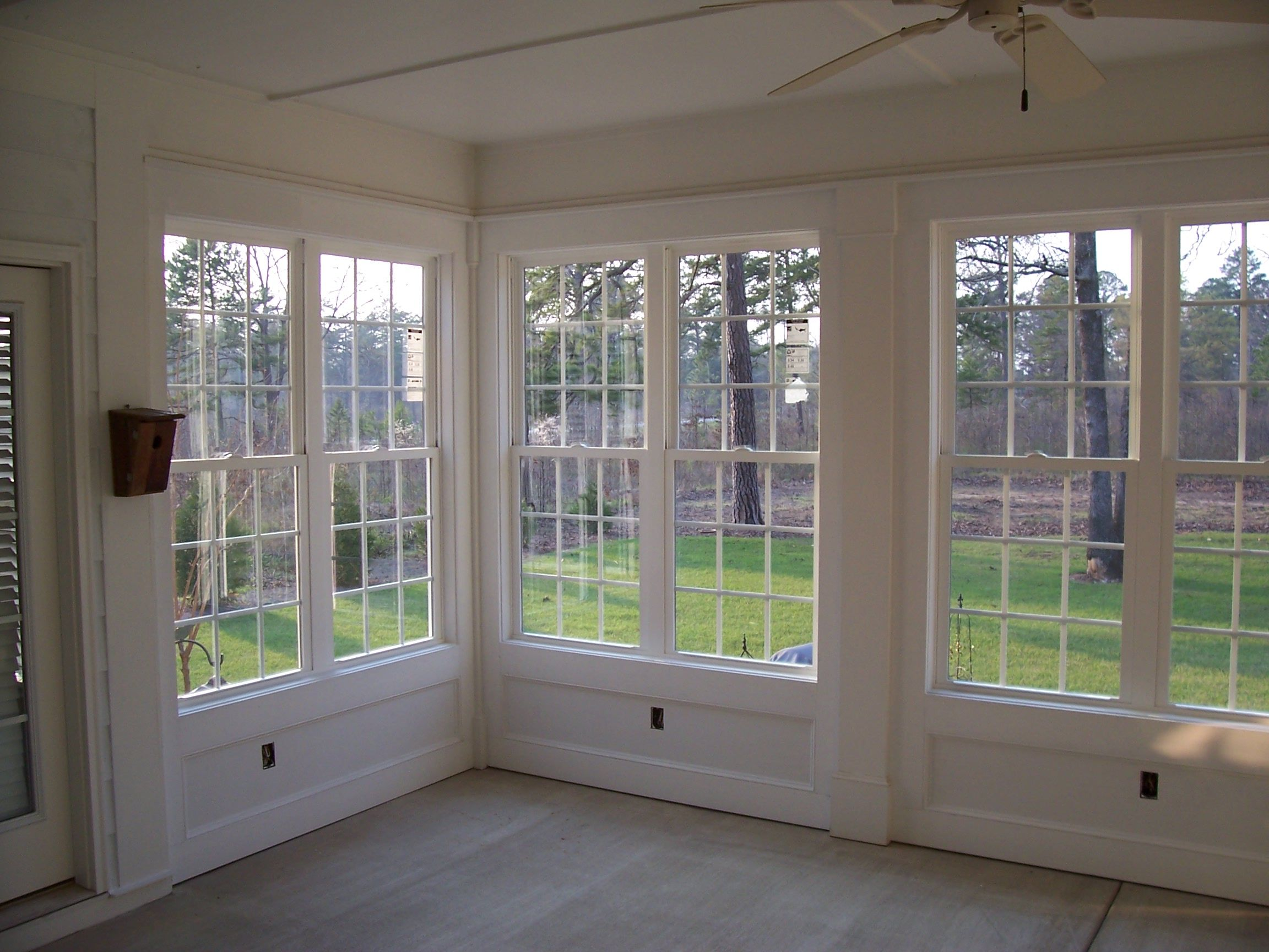 Remodel Project Sun Porch Turned Into Sunroom Sun Porch Beautiful Wall Of Windows Interior