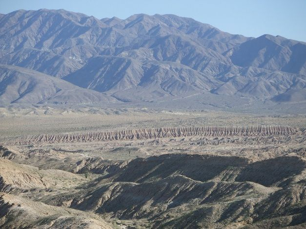 Incredible terrain at Anza-Borrego Desert State Park in San Diego County.