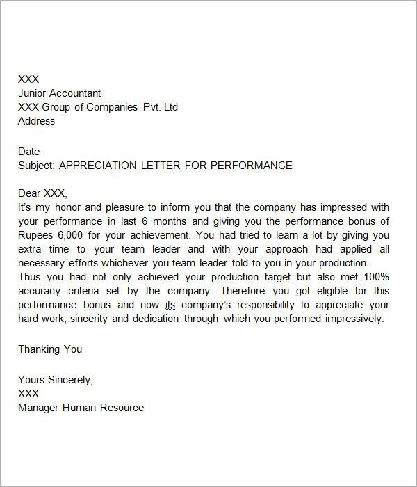 thank you letters for appreciation download free documents pdf - thank you letters to boss