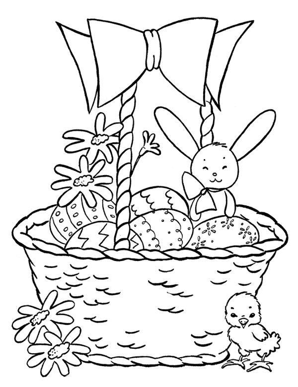 Koszyczek Wielkanocny Kolorowanki Do Wydruku Szukaj W Google