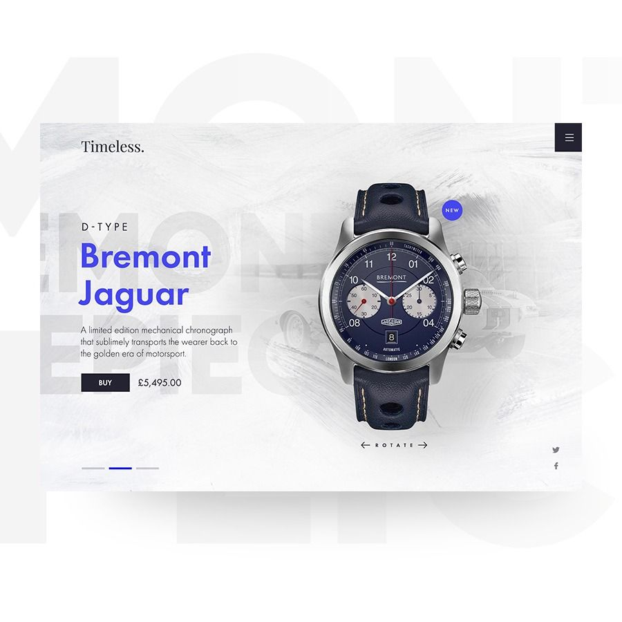 Bremont Watch Jaguar Web Design Layout Freelance Web Design Web Layout Design Website Design Layout