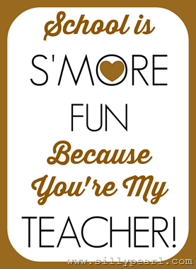 Appreciation Gift Tag back to school learn s/'more this year class gift tag gift tag Teacher Printable smore favor s/'more learning