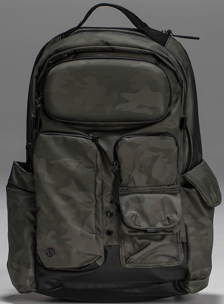 ec3bd99653 Lululemon Mens Cruiser Backpack Bag Savasana Camo Fatigue Green NWT ...