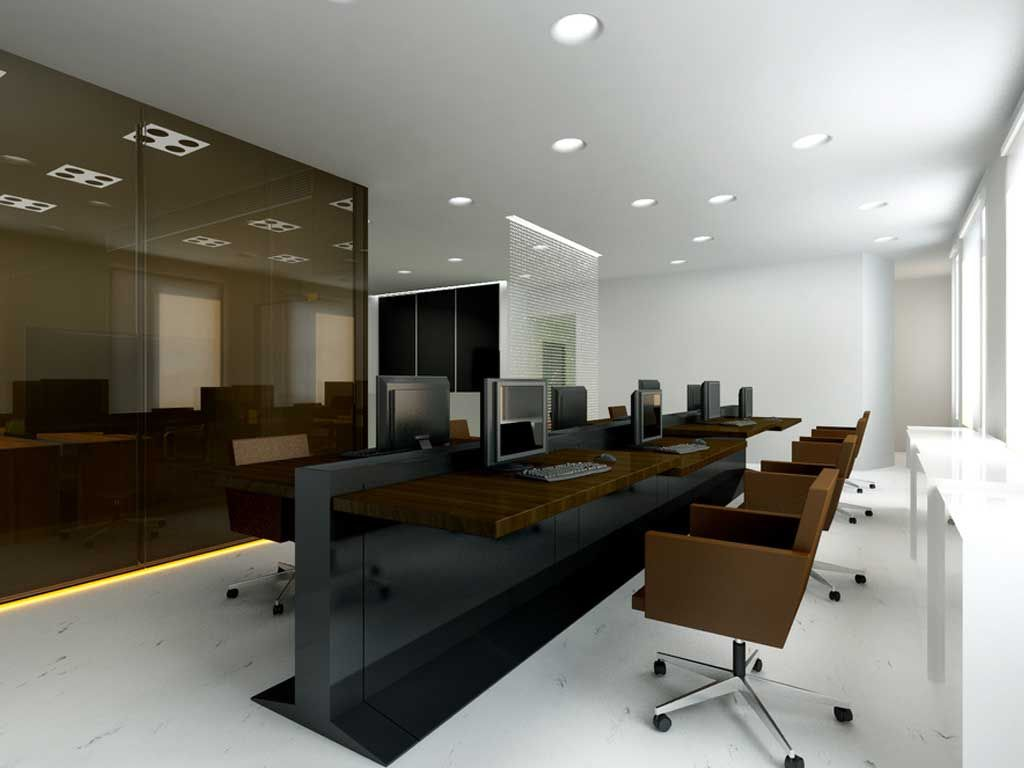 Nice trading room idea office ideas pinterest office for Corporate office decorating ideas pictures