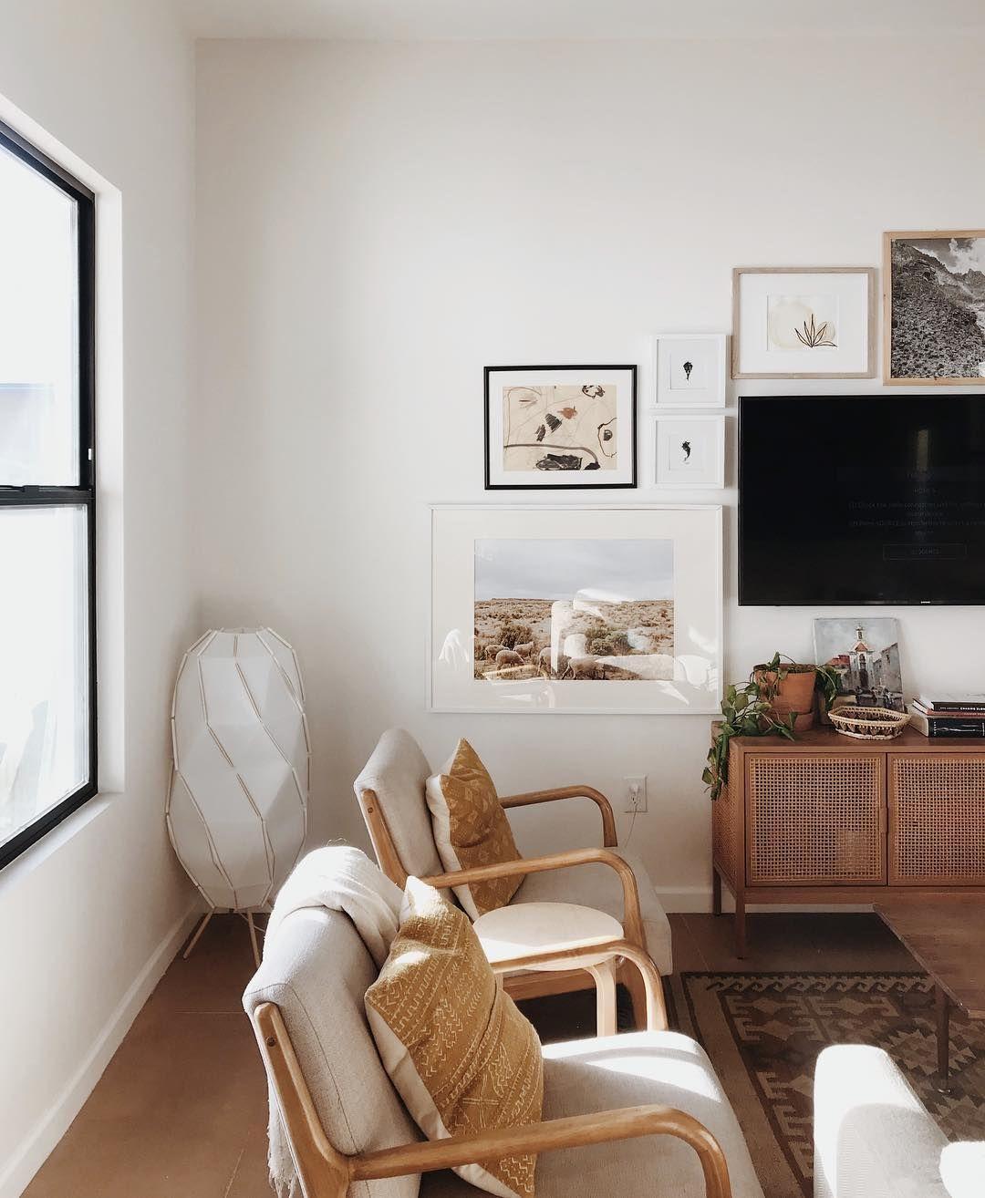 Light Airy With Warm Wood Tones Cozy Living Room Corner