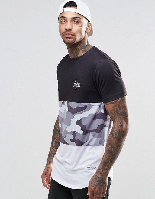 Camiseta con panel en estampado de camuflaje de Hype at asos.com. Ropa De  HombreRopa ...
