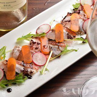 白身魚の和製カルパッチョ