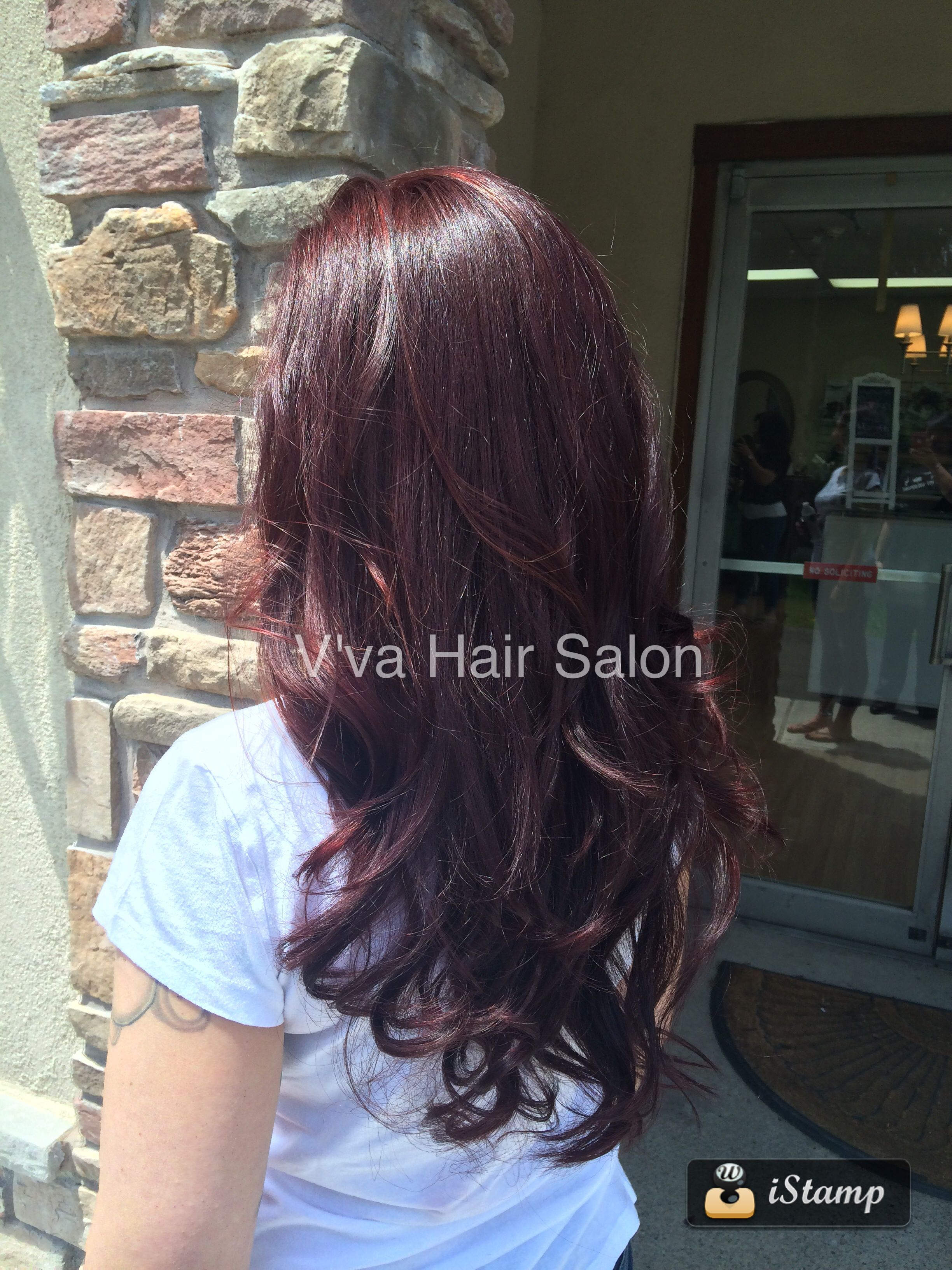 Long Layers True Rich Auburn Hair By Vanessa At Vva Hair Salon