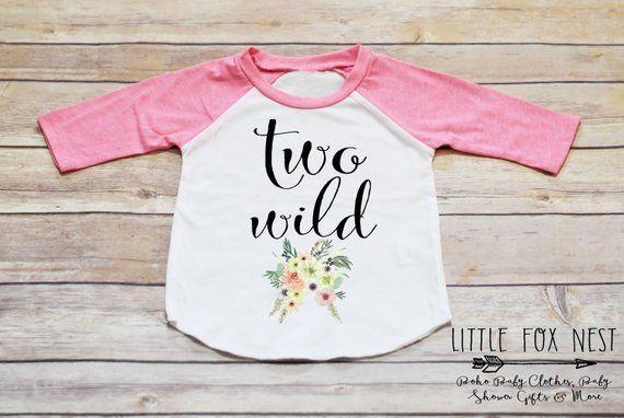 8144ed67 Second Birthday Shirt Girl, Second Birthday Outfit Girl, Two Wild Shirt, Second  Birthday Girl, Boho