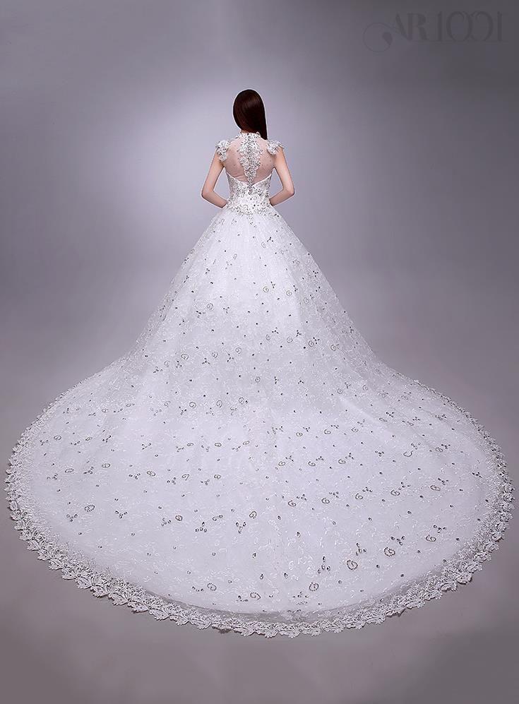 فاخر العليا الرقبة الرباط يزين مطرز الأبيض كاتدرائية فستان الزفاف فساتين زفاف٢٠١٥ 2 Wedding Dresses Cathedral Wedding Dress Cute Wedding Dress