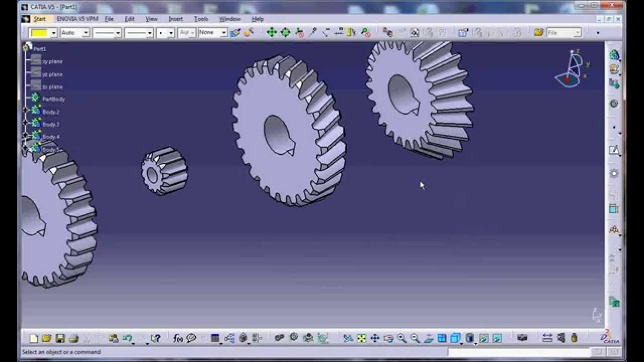 Gear 3D Modeling in CATIA V5 by Programming (Efficiency of