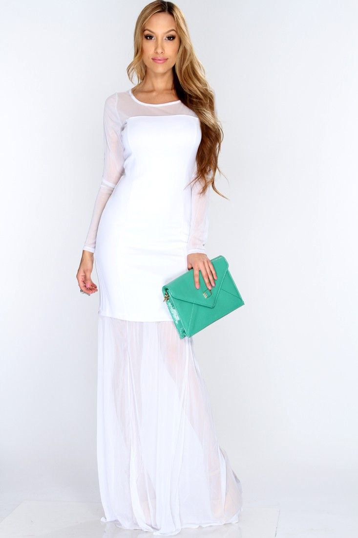 White Mesh Gown