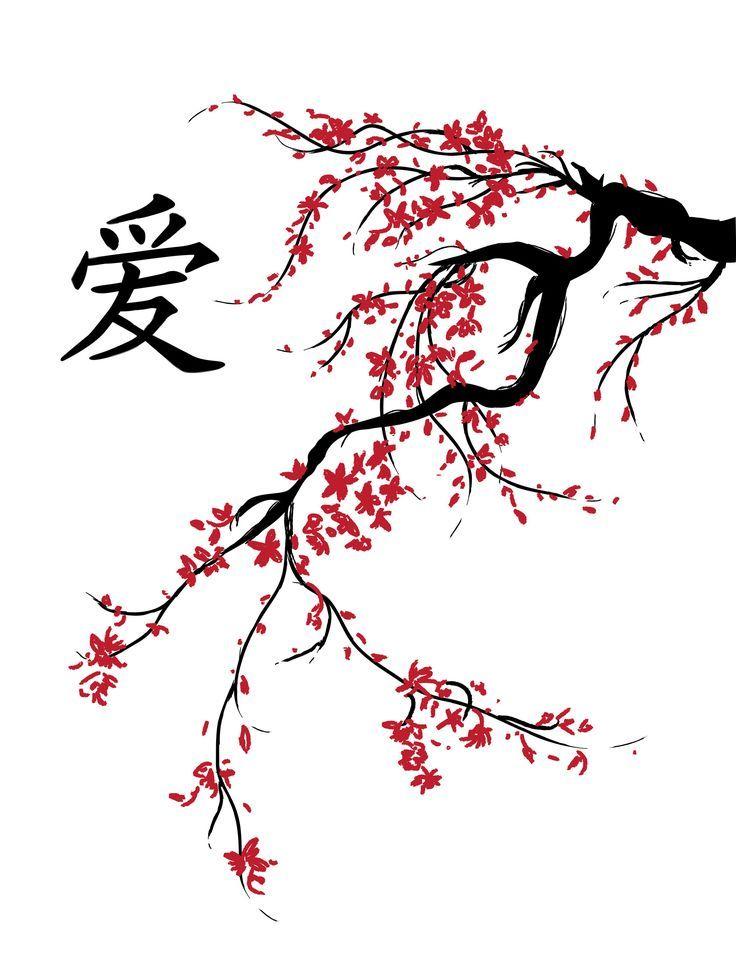 tumblr static cherry blossom stencil red.jpg    ...