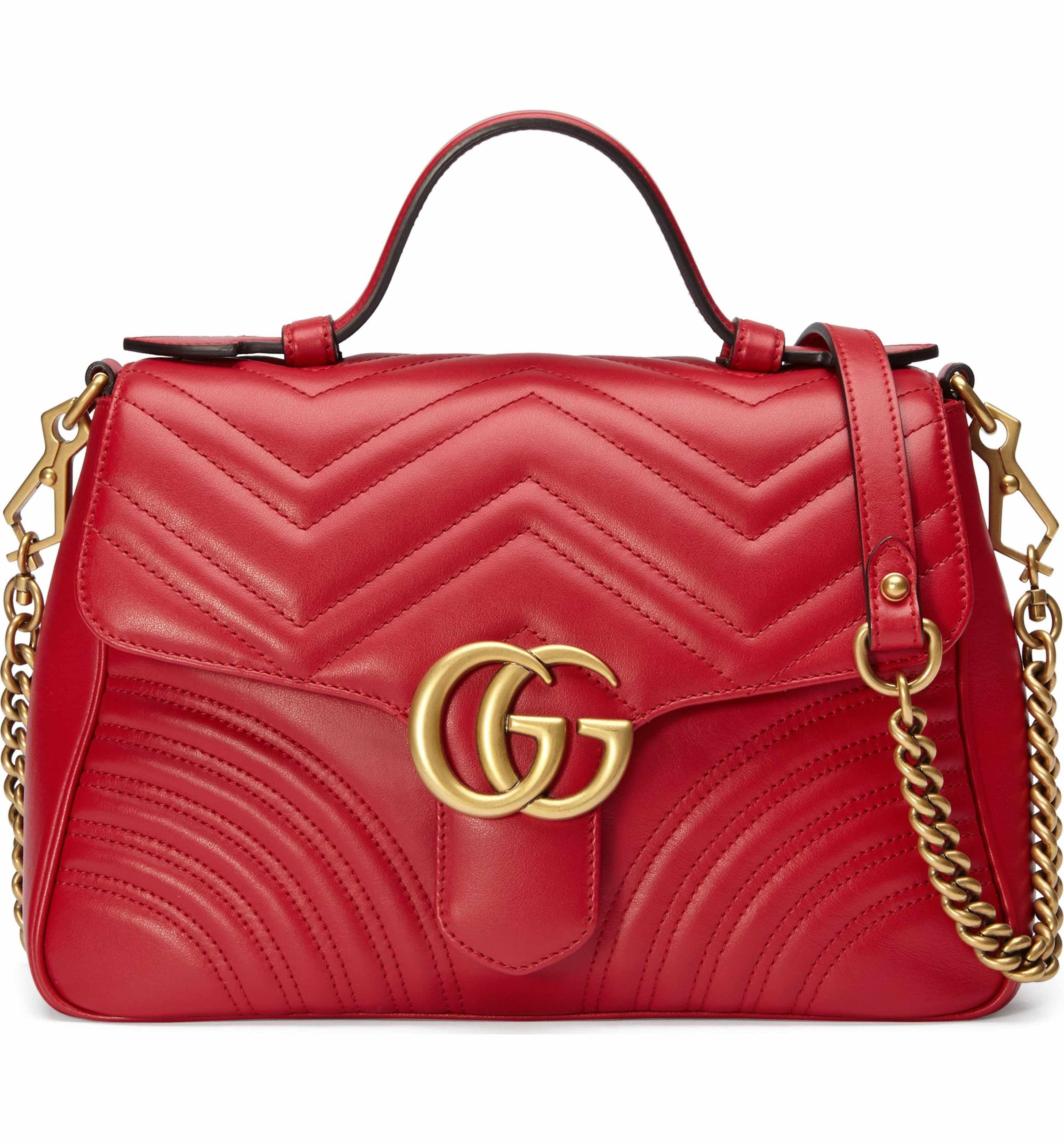 0d91f2afc0a Main Image - Gucci Small GG Marmont 2.0 Matelassé Leather Top Handle ...