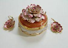 Joan Rivers Floral Trinket Box