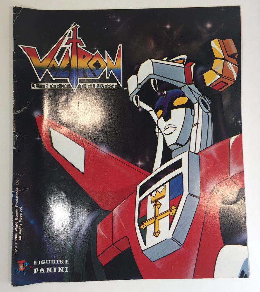 Voltron Defender Of The Universe Panini Sticker Album Ebay Sticker Album Voltron Collectibles [ 1000 x 889 Pixel ]