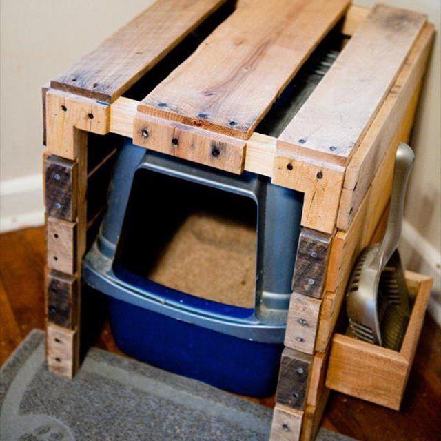 Pallet Littler Box Hider   Diy pallet furniture, Diy ...