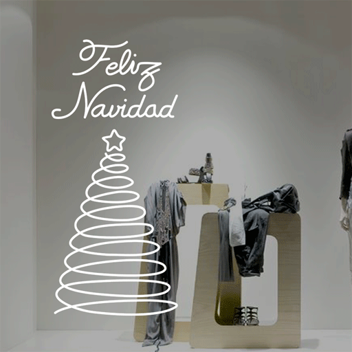 Vinilo decorativo navide o para escaparates o paredes - Adornar escaparate navidad ...