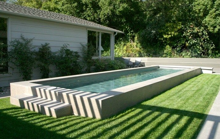 Raised lap pool elevated lap pool swimming pool z for Raised pool designs