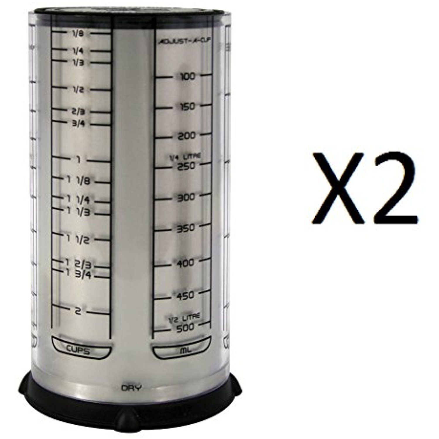 Fox Run Kitchenart Pro 2 Cup Adjust A Cup Measuring