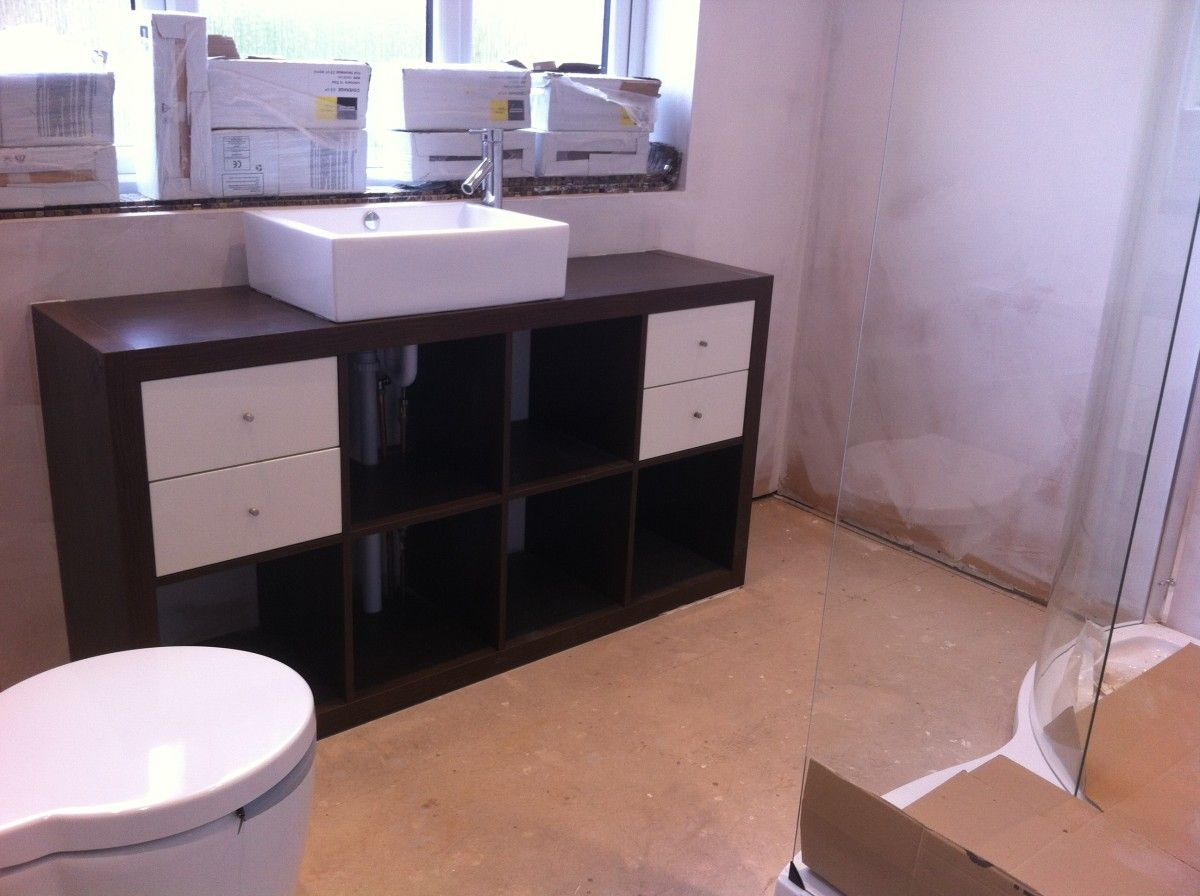 Ikea Double Bathroom Sink Unit ikea bathroom vanities. add missing sink storage. image of white