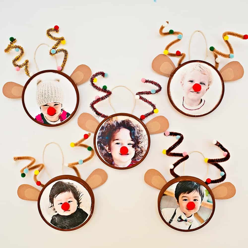 Rudolph Reindeer Photo Ornament Hello Wonderful Photo Christmas Ornaments Kids Christmas Ornaments Kids Crafts Ornaments