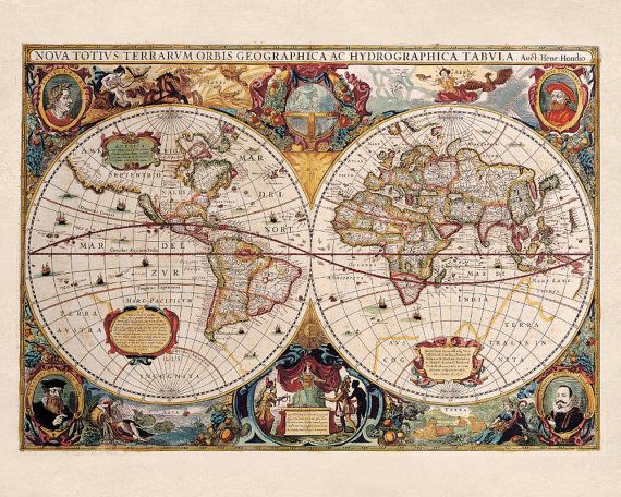 World map double hemisphere illustrated reproduction den office wall are you looking for an old world map jigsaw puzzle youll find a great selection of old world map jigsaw puzzles from 40 pieces to 6000 plus pieces gumiabroncs Choice Image
