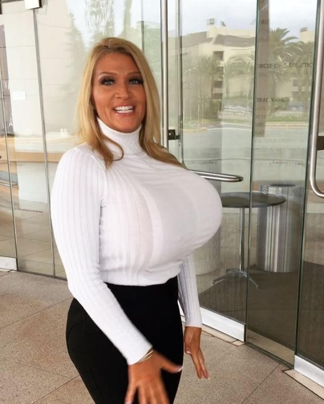 Huge Boobs In Tight Sweater