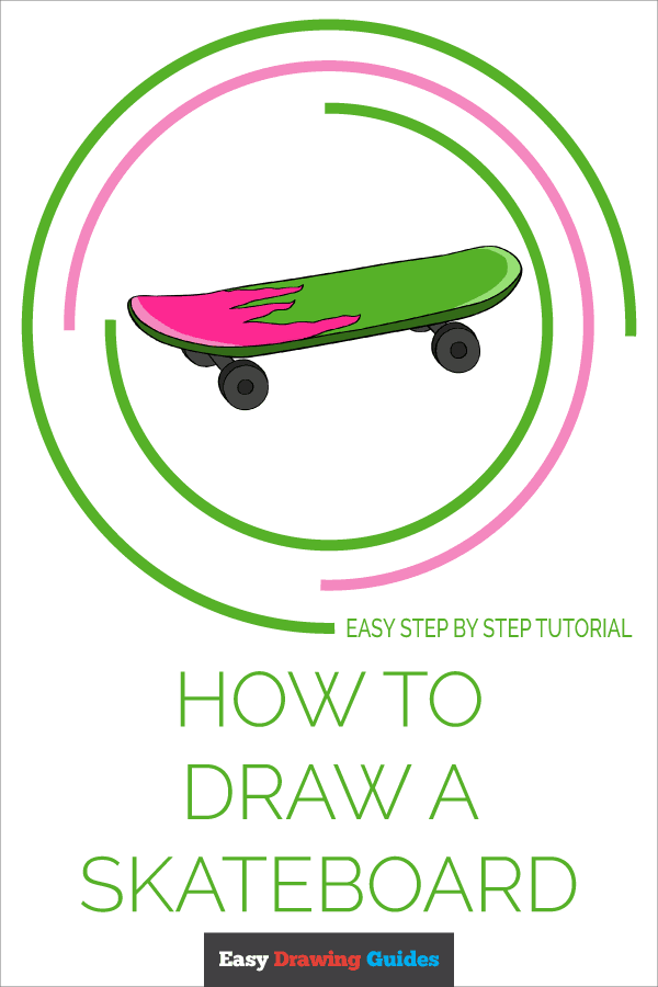 How To Draw A Skateboard Really Easy Drawing Tutorial In 2020 Drawing Tutorial Easy Easy Drawings Drawing Tutorial