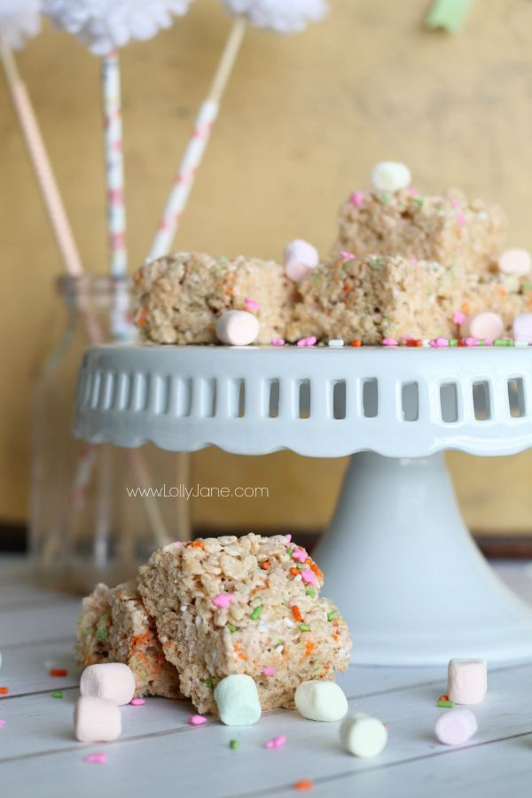 spring rice crispy treats #crispytreats