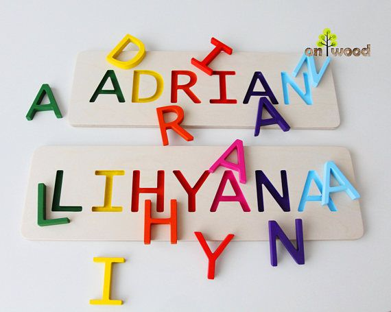 Personalized name puzzle 1st birthday gift boy girl wooden name personalized name puzzle 1st birthday gift boy girl wooden name puzzle personalized baby negle Image collections
