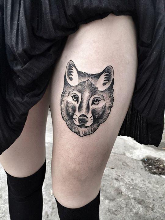 Black Fox Head Tattoo Wolf Tattoo Design Wolf Sleeve Wolf Tattoos