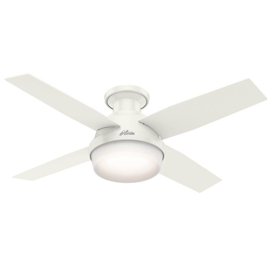 Hunter Dempsey 44 In Fresh White Flush Mount Indoor Ceiling Fan
