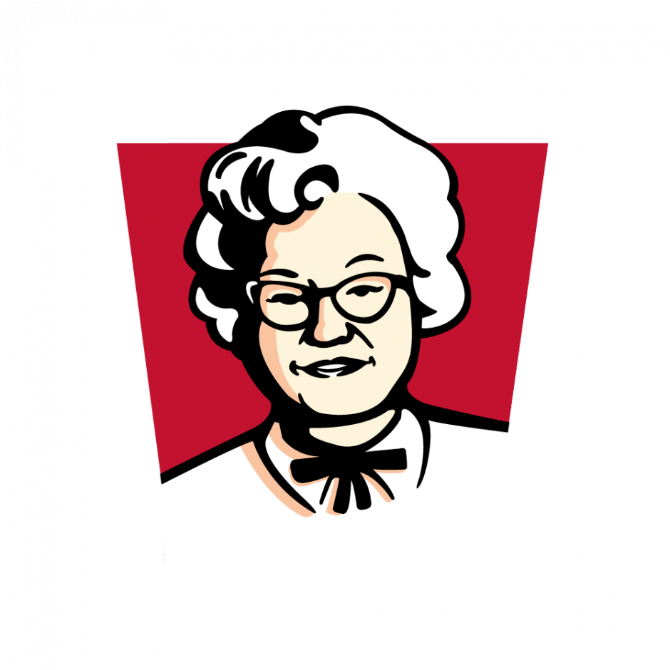 KFC changes logo to 'Claudia Sanders' for a day to