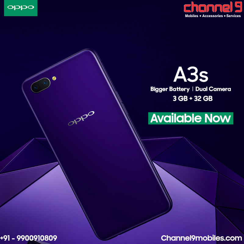 Pin by Channel9 on OPPO A3s | Big battery, Mobile
