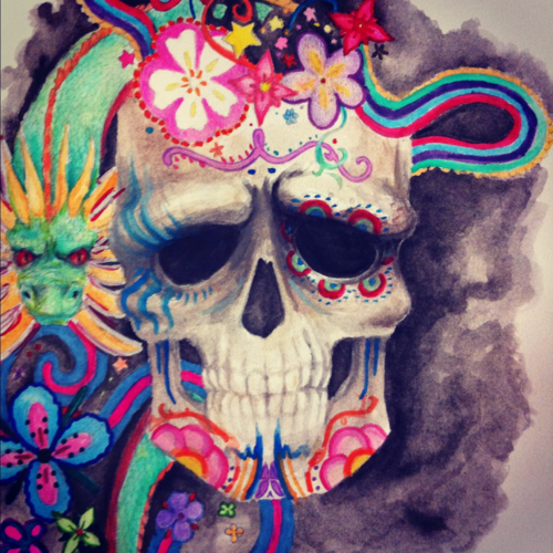 telli55:    Watercolor, color pencil and sharpies.
