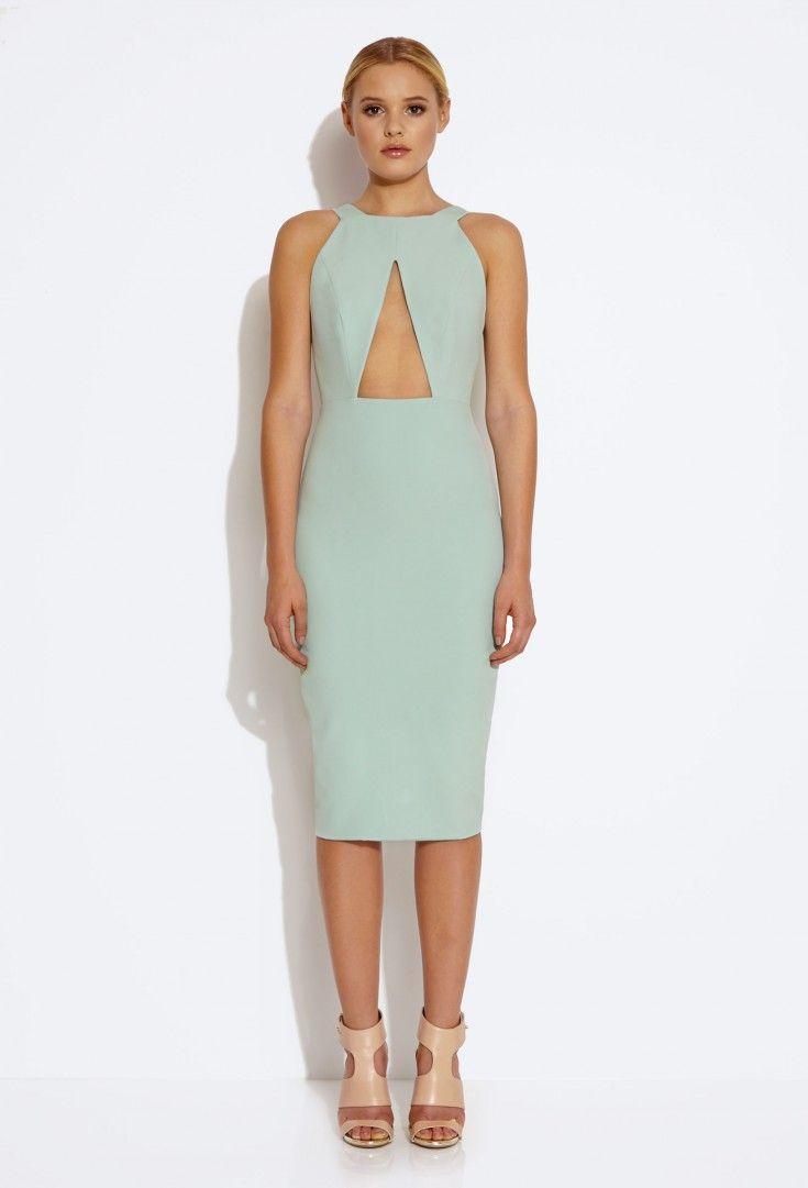 Killer Cut Out Knee Length Dress - Duck Egg Green £120 | clothing ...
