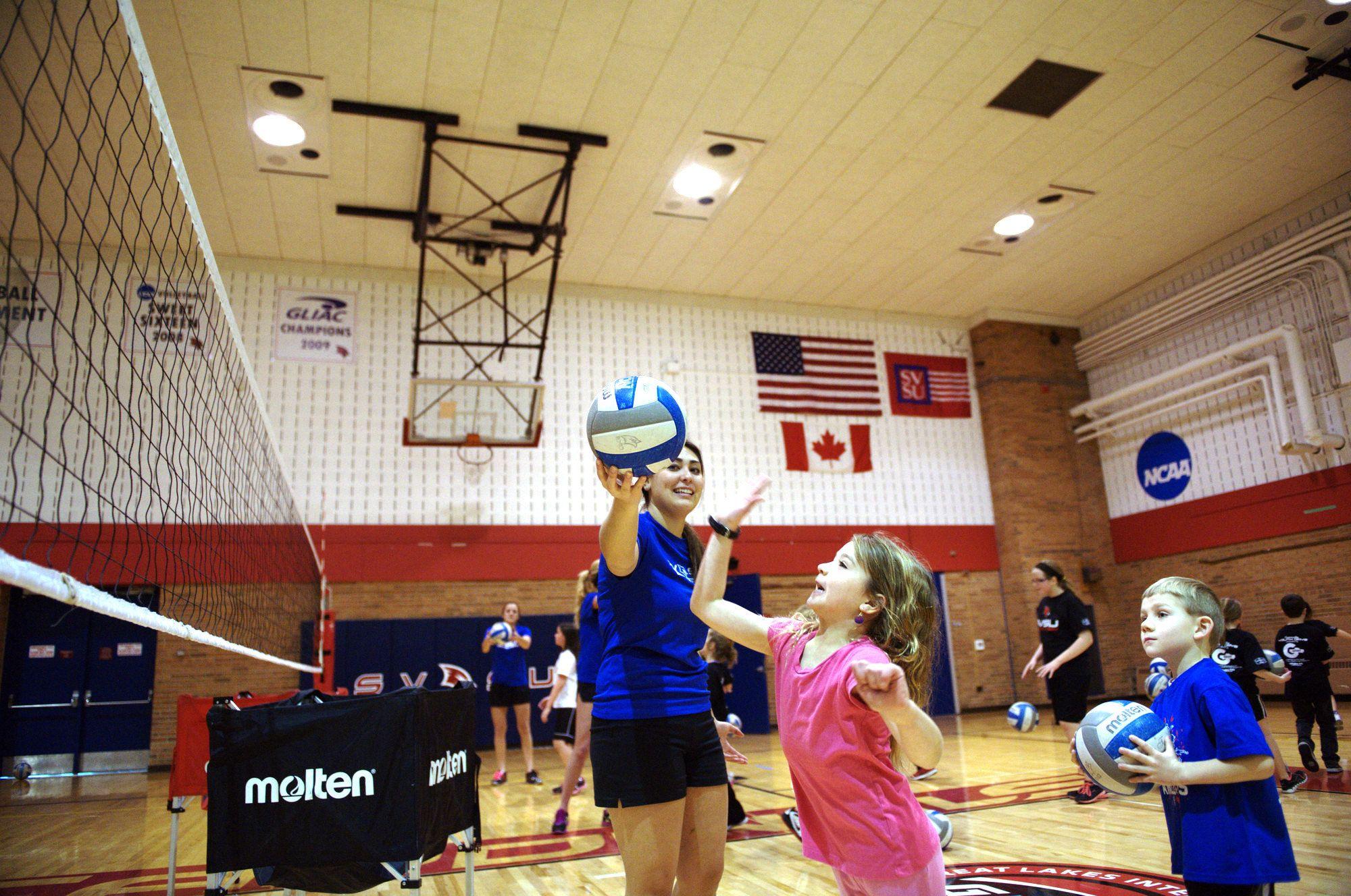 Svsu Volleyball Community Youth Day Sports Youth Day Athlete