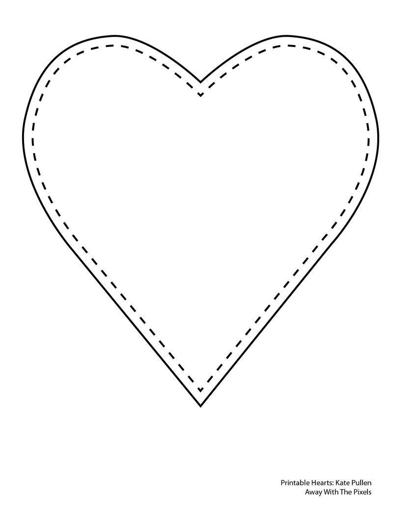 6 Free Printable Heart Templates Paper Pinterest Heart