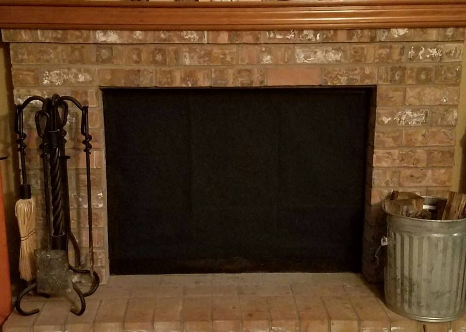 Insulated Magnetic Fireplace Fashion Cover In Just Black