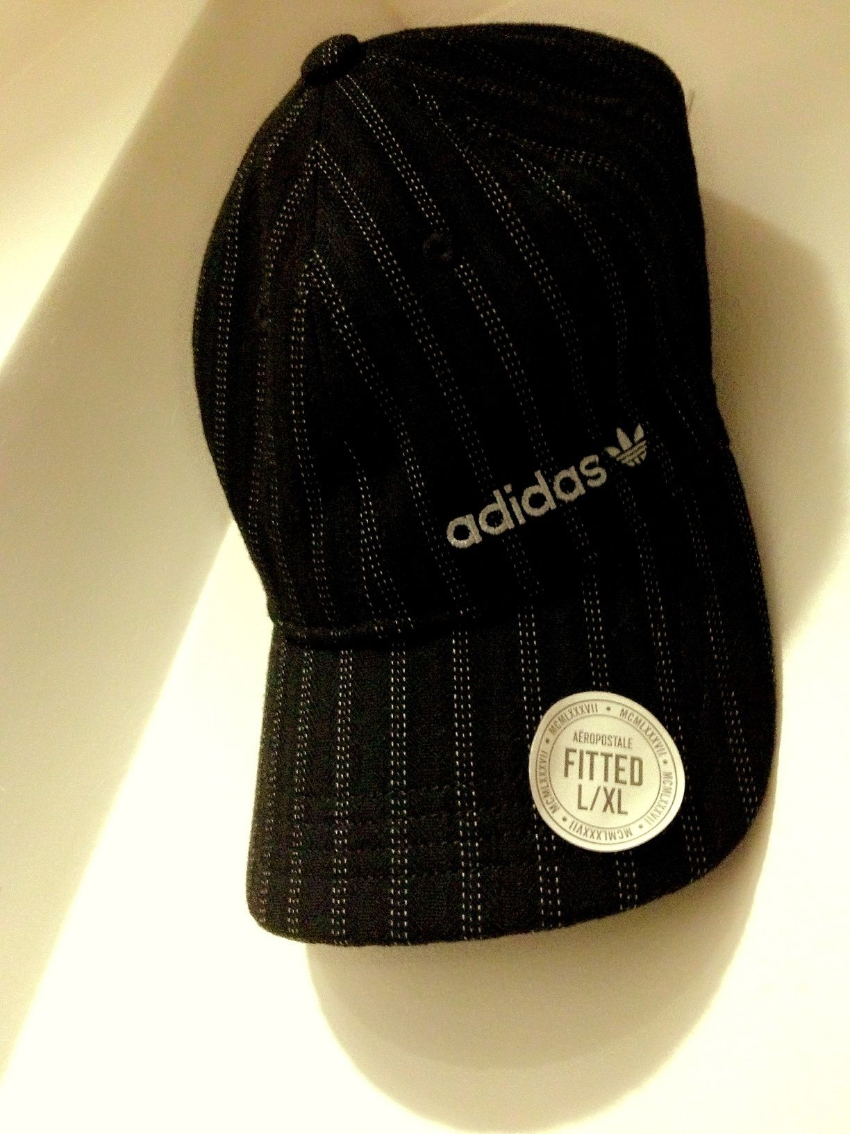 Adidas Striped Fitted Ball Cap - Black