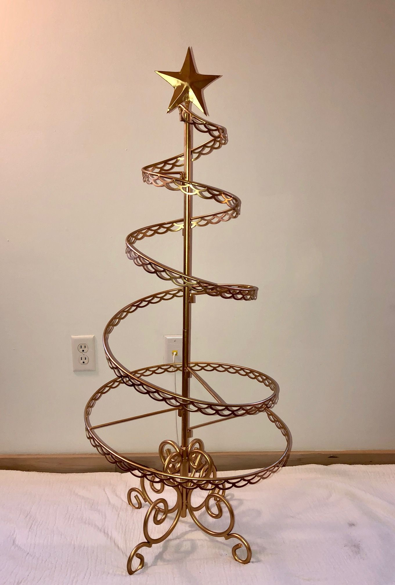 Ornament Trees Spiral Wire Ornament Tree 4 Foot Ornament Display Trees Ornament Tree Display Ornament Display Wire Ornaments