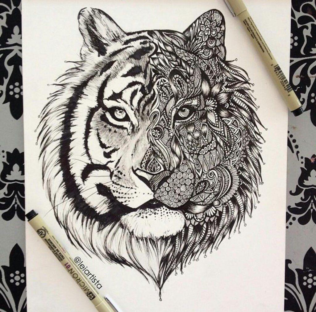 Pin Von Diana Jarquin Auf Tigre Mandala Kunst Kunstzeichnungen Tier Tattoo