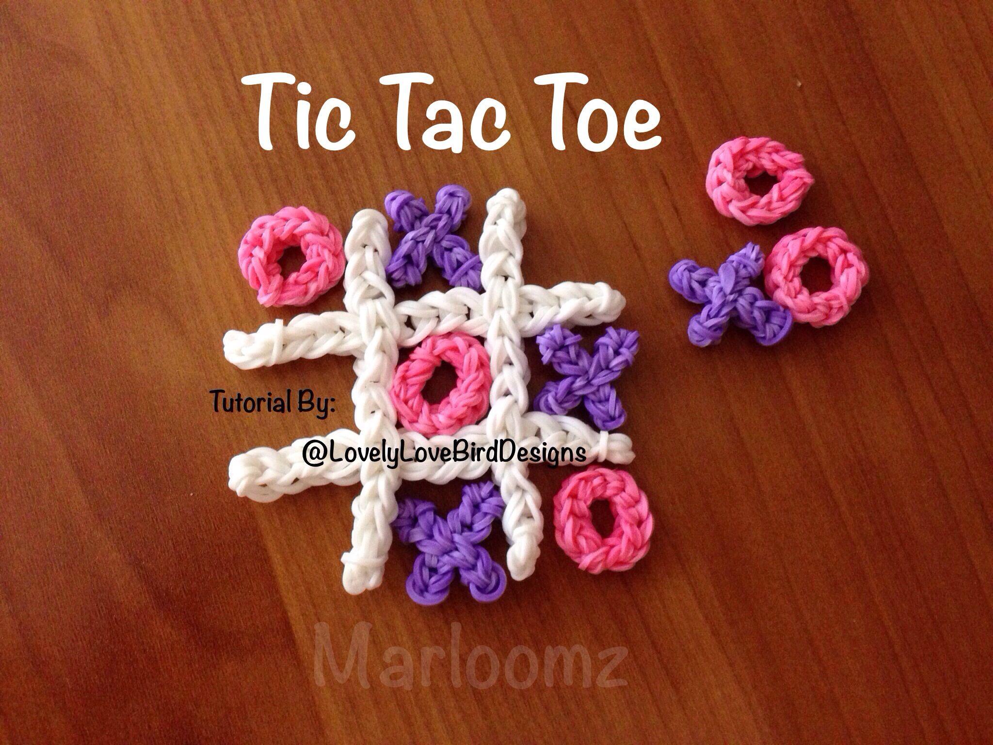Rainbow Loom Tic Tac Toe Tutorial By: Lovely Lovebird Designs