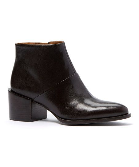 Nine West Dark Brown Entity Leather Ankle Boot | zulily