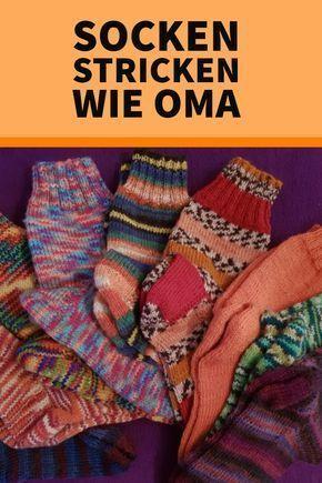 Tricotez des chaussettes comme une grand-mère avec des instructions très simples!   – Socken stricken/häkeln/knit socks
