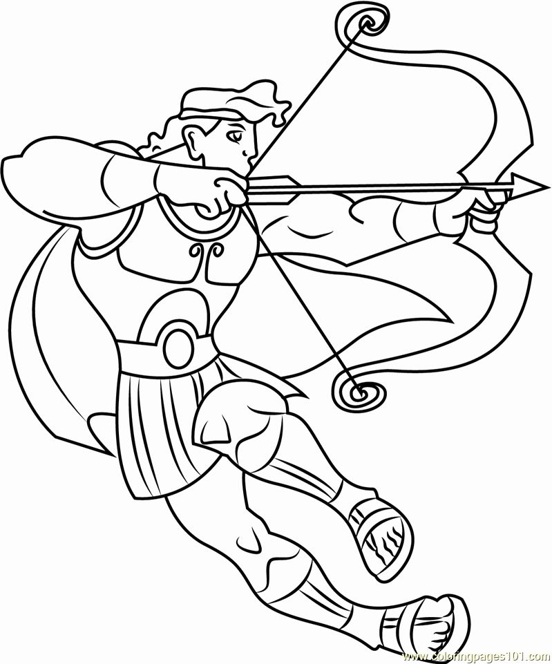 32 Bow And Arrow Coloring Page In 2020 Coloring Pages Candy