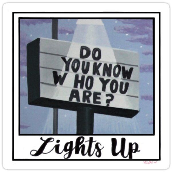 Lights Up Polaroid Sticker